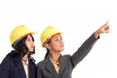 Beautiful engineers working Royalty Free Stock Photography