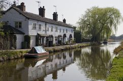 Beautiful England. Beautiful idyllic canal setting Royalty Free Stock Images