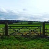 Beautiful English Countryside gate Royalty Free Stock Photo