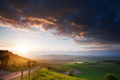 Beautiful English countryside landscape Stock Images
