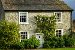 Beautiful English house with climbing roses Stock Photography