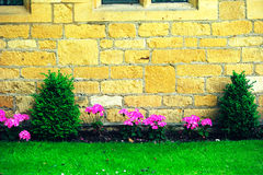 Beautiful English house and flowers in Cotswolds, England, UK Royalty Free Stock Photography