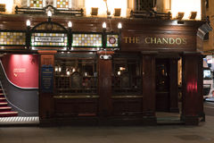 Beautiful English Pub The Chandos in London St Martins Lane London UK Royalty Free Stock Photography
