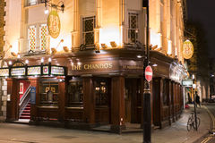 Beautiful English Pub The Chandos in London St Martins Lane London UK Royalty Free Stock Photo