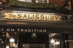 Beautiful English Pub The Salisbury in London Covent Garden London UK Royalty Free Stock Photo