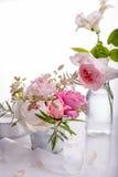 Beautiful English rose flower bouquet on white background Stock Image
