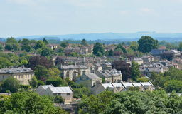 Beautiful English Town. View of a Beautiful English Town in Summer Seen from a High Vantage Point - Namely the Historic Town of Bradford on Avon in Wiltshire Stock Image