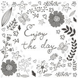 Beautiful enjoy the day concept floral card Royalty Free Stock Photography
