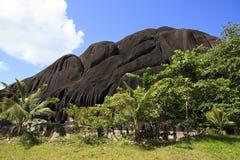Beautiful enormous black granite rock Royalty Free Stock Image