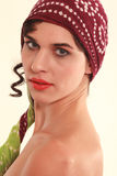 woman with headscarf Stock Photo
