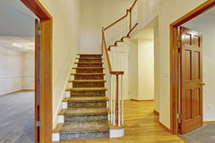 Beautiful entrance to house with stairs. Royalty Free Stock Photo