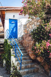 Beautiful entrance to traditional Greek jouse on Crete island Royalty Free Stock Photography