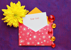 Beautiful envelope Stock Photo