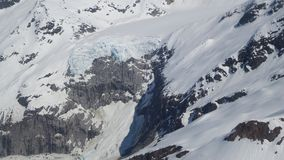 Environment on the Mendenhall Glacier Juneau Alaska Royalty Free Stock Image