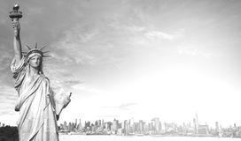 Beautiful epic black and white photograph from new york city skyline Royalty Free Stock Photos