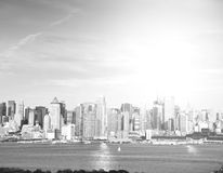 Beautiful epic black and white photograph from new york city skyline Royalty Free Stock Image