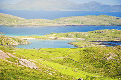Beautiful epic irish countryside rural landscape scenery. From the ring of kerry. along the wild atlantic way Royalty Free Stock Photos