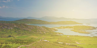 Beautiful epic irish countryside rural landscape scenery from th Royalty Free Stock Image