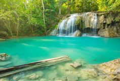 Beautiful Erawan Waterfall in Erawan National Park Royalty Free Stock Photography