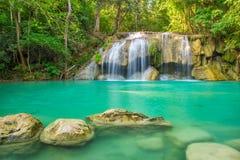 Beautiful Erawan Waterfall in Erawan National Park, Kanchanaburi Stock Photography