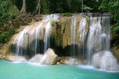 Beautiful Erawan waterfalls Stock Photos