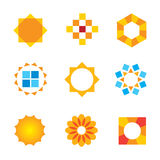 Beautiful estate decoration Sun symbol logo icon  Stock Images
