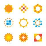 Beautiful estate decoration Sun symbol logo icon. Enjoy Stock Images