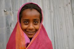 Beautiful Ethiopian Girl. Came across this girl in a town in Ethiopia, while traveling a few years ago royalty free stock photo