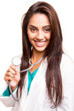 Beautiful ethnic doctor Royalty Free Stock Photography