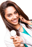 Beautiful ethnic doctor Stock Photos