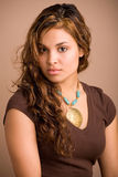 beautiful ethnic girl multi Στοκ Φωτογραφίες
