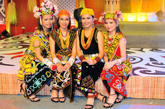 Young Dayak Ladies royalty free stock photos