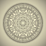Beautiful ethnic mandala with a floral pattern Royalty Free Stock Photo