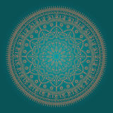Beautiful ethnic mandala. Beautiful round mandala in ethnic style with natural elements Stock Photos