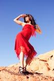 Beautiful ethnic woman with fashion dress Stock Photo