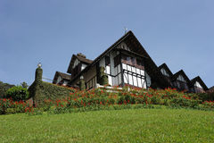 A beautiful Europe style house and a garden Royalty Free Stock Images