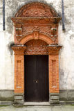 The door of the brick carving Stock Image