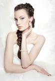 The beautiful european bride Stock Images