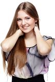 Beautiful european girl Stock Images