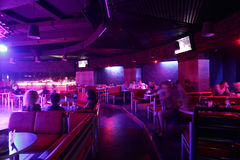 Beautiful european night club interior Royalty Free Stock Images