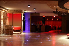 Beautiful european night club interior Stock Photos