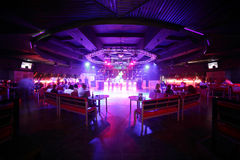 Beautiful european night club interior Royalty Free Stock Photo
