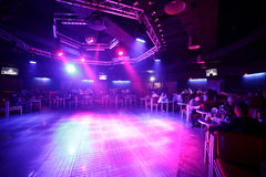 Beautiful european night club interior Stock Images