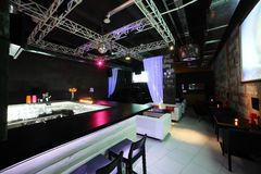 Beautiful european night club interior Stock Image