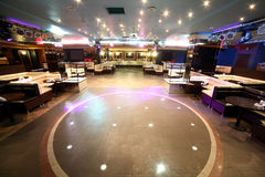 Beautiful european night club interior Royalty Free Stock Photos
