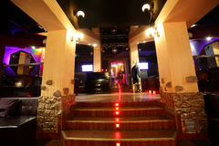 Beautiful european night club interior Stock Photography