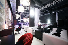 Beautiful european night club interior Royalty Free Stock Photo