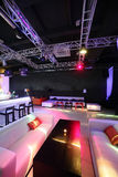 Beautiful european night club interior Royalty Free Stock Image
