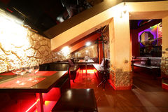Beautiful european night club interior Royalty Free Stock Photography