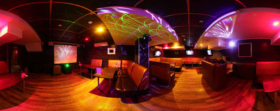Beautiful european night club interior Stock Photos
